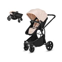 COSTWAY Kinder-Buggy Babywagen Sportwagen, verstellbar, mit Ablagekorb weiß