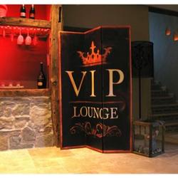 Grasekamp Paravent 3tlg Raumteiler Trennwand VIP  LOUNGE Antik