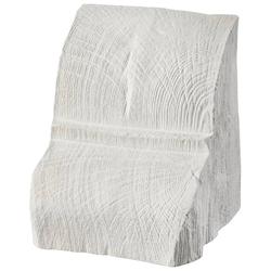 HOMESTAR Deko-Konsole 20 x 13 cm, für Deckenbalken, Holzimitat, Eiche weiß weiß