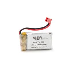 vhbw Drohnen-Akku für Modellbau / Modellbau Drohne (650mAh, 3,7V, Li-Ion) 650 mAh
