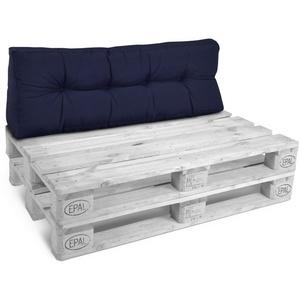 Beautissu Sitzkissen ECO Style, Palettenkissen Rücken 120x40x20cm blau