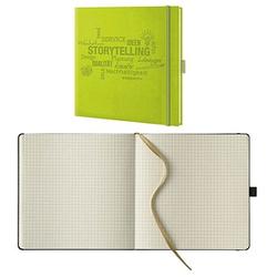 Lediberg Notizbuch Storytelling quadratisch kariert