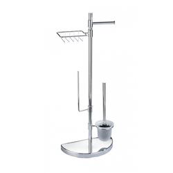 WENKO Raumspar WC-Center, WC-Garnitur mit Ersatzrollen- und Feuchttücher-Halter