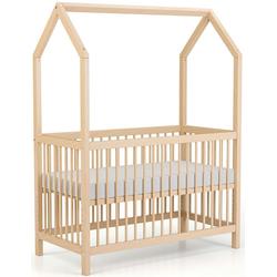 Geuther Babybett Cozy-Do, 4-in-1 Bett; Made in Germany; Beistellbett, Kinderbett, Juniorbett und Spielhaus in Einem! beige