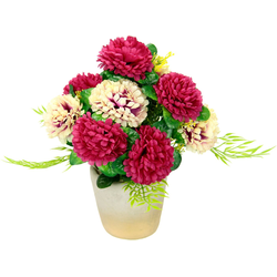 Kunstpflanze Chrysanthemen, I.GE.A., Höhe 32 cm, Arrangement im Topf