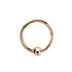 Adelia´s Nasenpiercing Piercing Ring BCR, Clicker Rosegold mit 3 mm Kugel, Aus 316l Stahl? PVD Rosegold beschichtet