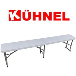Kühnel Sitzbank Klappbare Sitzbank - ideal für Camping, Picknick oder Garten