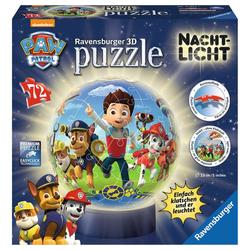 Ravensburger 3D-Puzzle Paw Patrol - Puzzle-Ball, Nachtlicht, 72 Puzzleteile