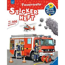 Feuerwehr Stickerheft als Buch von
