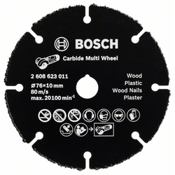 Trennscheibe Hartmetall Multi Wheel 76 mm. 10 mm. 1 mm