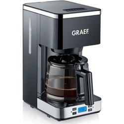 Graef Filterkaffeemaschine FK 502 mit Timer und Glaskanne, 1,25l Kaffeekanne, Korbfilter 1x4