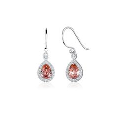 Elli Paar Ohrhänger Tropfen Ohrhänger Kristalle 925 Silber