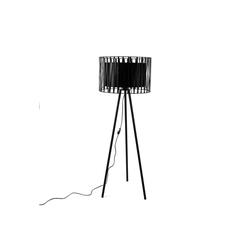 Licht-Erlebnisse Stehlampe MINA Stehlampe Dreibein Schwarz Metall rund Wohnzimmer Lampe