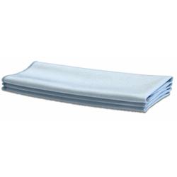PROFI Microfaser Fenstertuch, extra groß, Fusselfreies und extra großes Mikrofasertuch für die Glasreinigung, 1 Packung = 10 Stück, 50 x 70 cm, blau