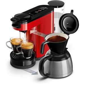 Philips Senseo Switch 2in1-Kaffeemaschine Senseo Switch rot