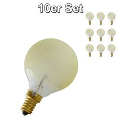 Lichtbogen G50 Globe E14 Eiskristall bernstein 25 Watt im 10er Set 61457