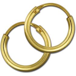 GoldDream Paar Creolen D2GDOB00013K GoldDream Echtgold Ohrringe Creolen (Creolen), Damen Creolen Ohrring aus 333 Gelbgold - 8 Karat, Ø 13mm