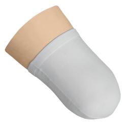 Oberschenkel-Stumpfstrumpf Nylon, weiss