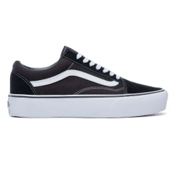 Vans - Old Skool Platform Black/White - Sneakers - Größe: 6,5 US