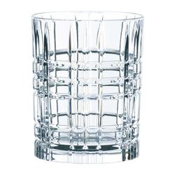 Nachtmann Gläser-Set Square Whiskey 4er Set 345 ml, Kristallglas