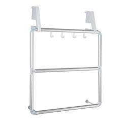 WENKO Garderobenständer Handtuchhalter für Tür und Duschkabine Compact, mit 3 Querstangen