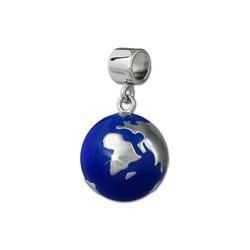 SilberDream Kettenanhänger SDH601B SilberDream Ketten-Anhänger Weltkugel 925 (Kettenanhänger), Weltkugel Kettenanhänger 925 Sterling Silber, Farbe: blau