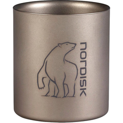 Nordisk Becher Titanium Mug Double-Wall, Titan silberfarben 220 ml