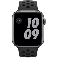 Apple Watch Series 6 Nike GPS + Cellular 44 mm Aluminiumgehäuse space grau, Nike Sportarmband anthrazit/schwarz