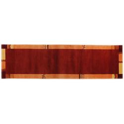 Handknüpfteppich Nepalus TK-02 (Rot; 80 x 200 cm)