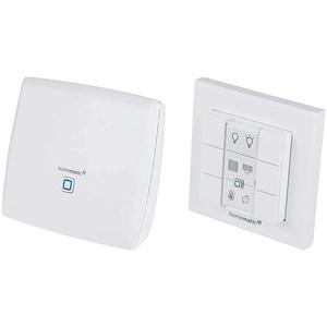 Homematic Smart Home Zentrale CCU3 inklusive mediola AIO CREATOR NEO Lizenz, 151965A0, Weiß & Homematic IP Wandtaster – 6-fach, 142308A0