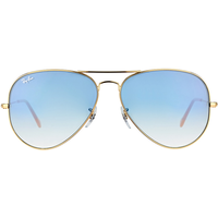 Ray Ban Aviator Large Metal RB3025 001/3F 58-14 polished gold/light blue gradient