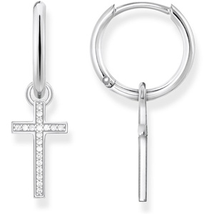 Thomas Sabo Damen-Creolen Kreuz Glam & Soul 925 Sterling Silber CR622-051-14