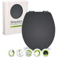 Sitzplatz WC-Sitz High-Gloss Dekor Carbon, Optik mit Absenkautomatik,