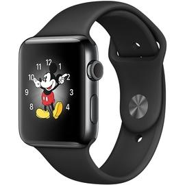 Apple Watch Series 2 38mm Edelstahlgehäuse space schwarz mit Sportarmband schwarz