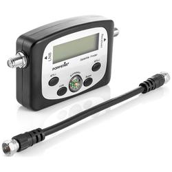 Poppstar SAT-Antenne (Digital Satfinder (Sat Finder Messgerät, 19,5 cm Kabel, Anleitung)