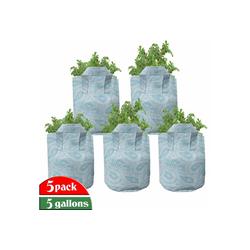 Abakuhaus Pflanzkübel hochleistungsfähig Stofftöpfe mit Griffen für Pflanzen, Arabisch Kunst-Art mit Wirbel 28 cm x 28 cm