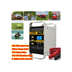 XIIW XWH-30A Autobatterie-Ladegerät 12/24V 20A/30A 6-400 Ah Autobatterie-Ladegerät