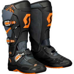 Scott MX 550 S17, Stiefel - Grau/Neon-Orange - 48 EU