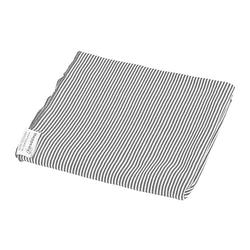Puckdecke Pucktuch grau/weiß