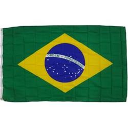 XXL Flagge Brasilien 250 x 150 cm Fahne mit 3 Ösen 100g/m² Stoffgewicht