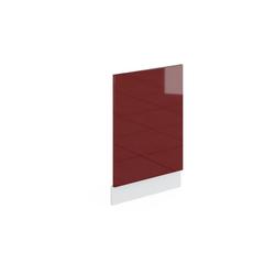 Vicco Frontblende Geschirrspülerblende 45 cm ohne Arbeitsplatte Küchenschrank Küchenschränke Küchenunterschrank R-Line Küchenzeile rot