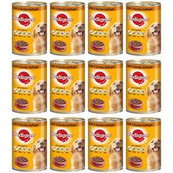 Pedigree Nassfutter Pastete mit 3 Sorten Geflügel, 12 Dosen á 400 g