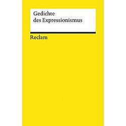 Gedichte des Expressionismus - Buch