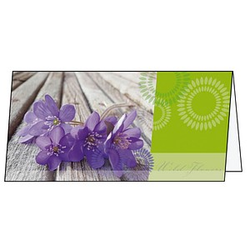 25 SIGEL Grußkarten Violetta DIN lang