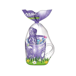 Milka Osterbecher Mischung von Alpenmilch gefüllt und Dragees 95g