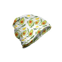 Abakuhaus Beanie Wandern im Freien Früchte Geschnittene Avocados und Zitronen bunt