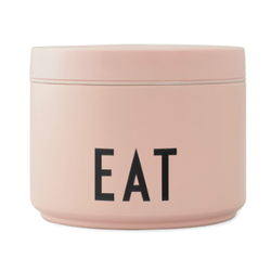 Design letters Thermo-Lunchbox klein in nude