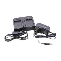 vhbw Ladegerät mit Kfz-Lader dual 2-fach passend für Silvercrest HD-Camcorder SCAZ 5.00 A1 (LIDL IAN 67099) Silvercrest SCAZ 5.00 B2 (LIDL IAN: 7598
