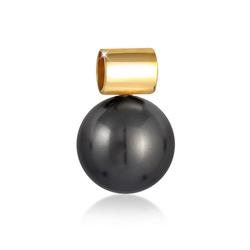 Nenalina Perlenanhänger Perle Kristallperlen 925 Silber, Bead goldfarben