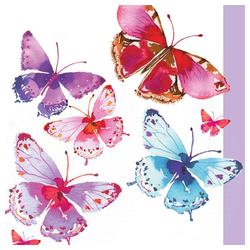 PPD Papierserviette Aquarell Butterflies 20 Stück 12.5 cm